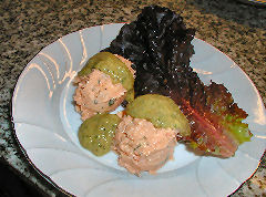 Salmon Rillette with Pinenut Sauce