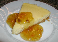 Sheep's Milk Cheesecake with Limequat Marmalade