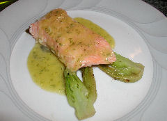 Baked Salmon with Dill Ginger Sauce