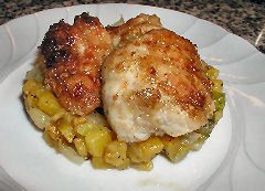 Caramelized Sweetbreads with Batatas and Fennel