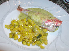 Goatfish (Red Mullet) with Chive-Lime Sauce