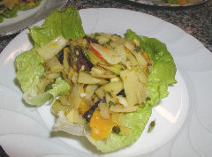 Fennel, Orange, and Black Olive salad