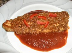 Pumpkin Seed crusted Trout