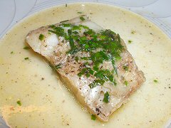 Pollack with Brown Butter Chive Sauce