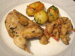 Roast Partridge with Chateau Potatoes
