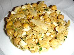 Salt Cod and Chickpea salad