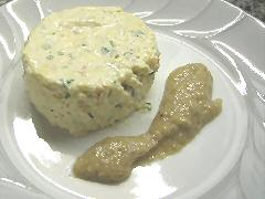 Crab Mousse with Shiitake sauce