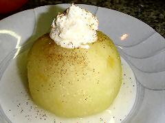 Poached Apples with Cardamom Mascarpone