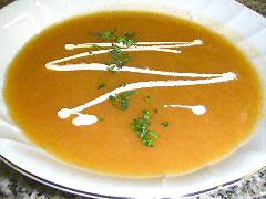 Tomato - Melon - Sweet Potato Soup