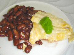 Marinated Lenguado with Coconut Beans