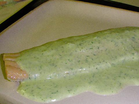 Poached Trout with Dill Cream