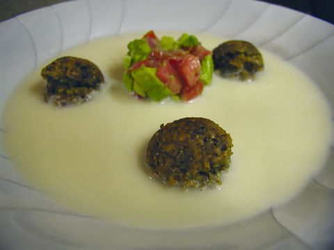 Fennel Falafel Soup