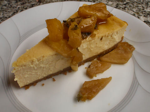 Dulce de Leche Cheesecake with Pineapple