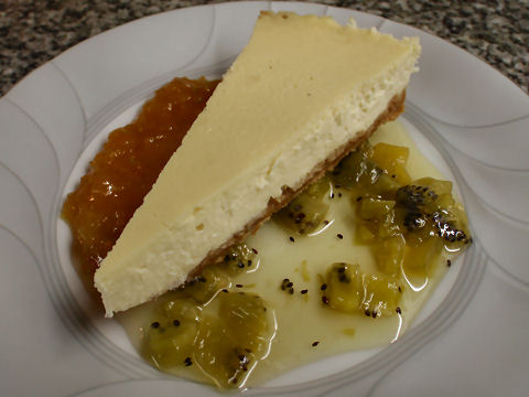 Cheesecake with Two Marmalades