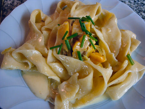 Papardelle with Lemon-Grappa Cream