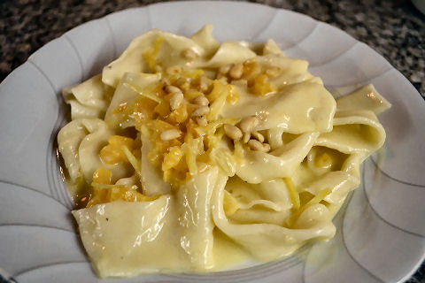 Pappardelle with Lemon-Apricot Cream