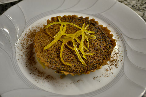Chocolate-Espresso-Mace-Lemon Tartlet