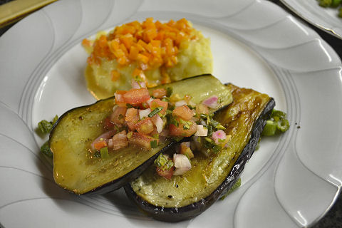 Eggplant with mixed vegetables