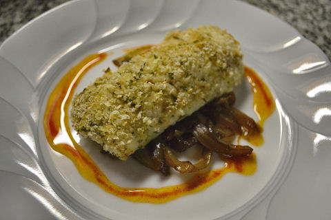 Haddock with sharp sauce, reinterpreted