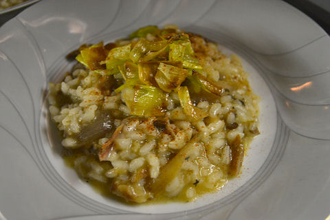 Smoked Herring and Shallot Risotto
