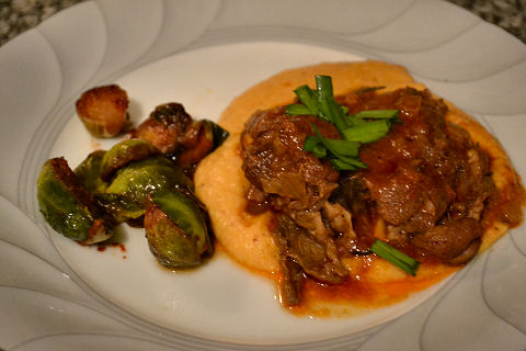 Slow Braised Lamb, Cauliflower Puree
