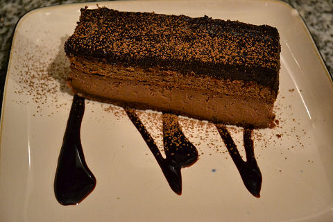Four layer chocolate torte