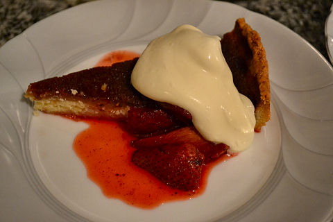 Honey Pie, Roasted Strawberries