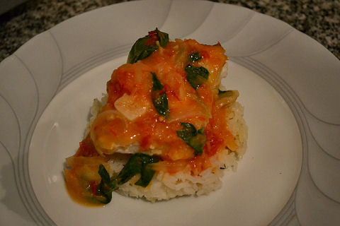 Sand Perch in Spicy Coconut Sauce