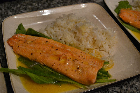 Trout with Passionfruit Sauce