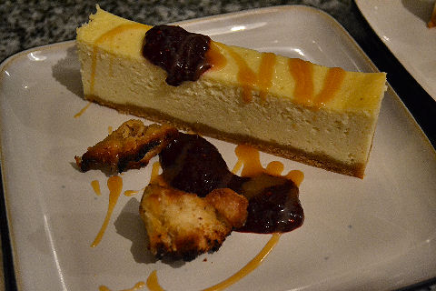 White Chocolate and Pear Cheesecake