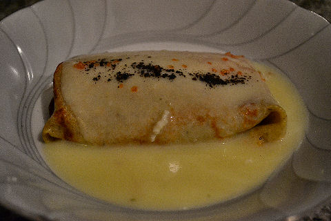 Eggplant and Cauliflower blintz