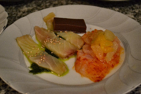 Cured fish plate