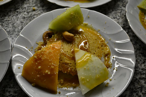 Almond Financier with Three Melons