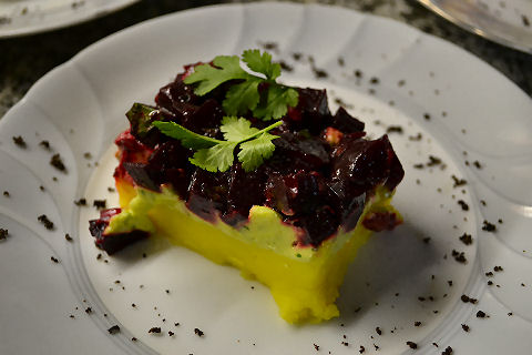 Roasted Beet Causa