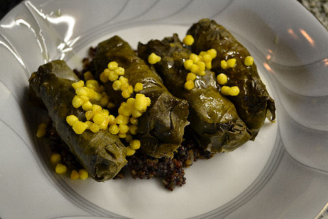 Grape Leaves stuffed with Patarashka