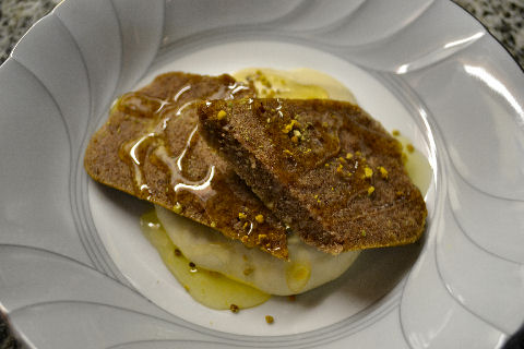 Carob financier, chankaka mousse