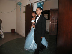 Viviana and Henry making their entrance