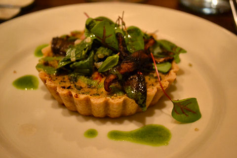 4 Course Vegan - spring vegetable quiche