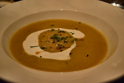 4 Course Vegan - yellow split pea soup