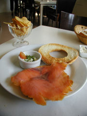 BNCafe Salmon and Bagel - New York Style