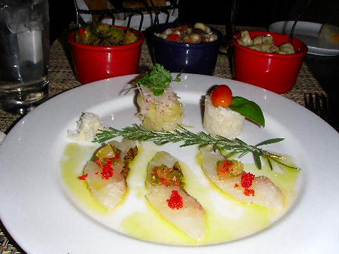 Accademia di Vino - Red Snapper Crudo and antipasti