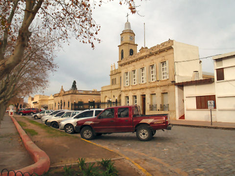 San Antonio de Areco - town church and original town hall