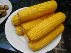 Corn to go with the second round of the asado