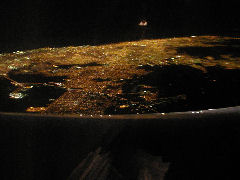 Buenos Aires from the air at night