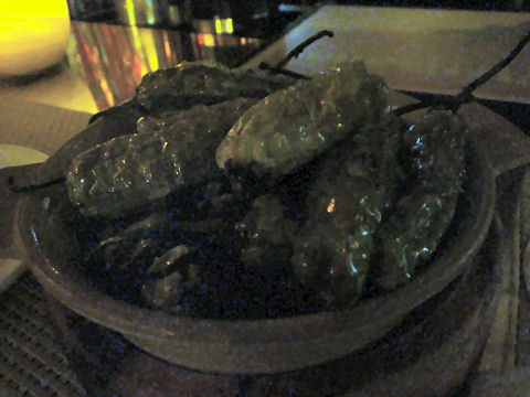 Bar Artisanal - blistered padron peppers