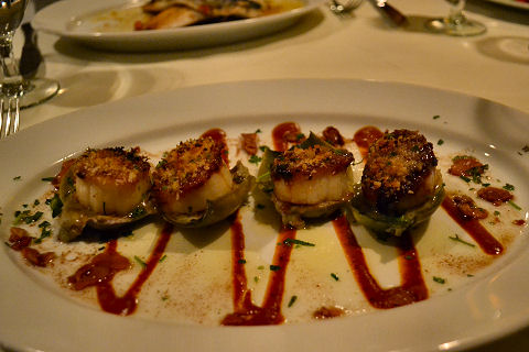Beacon - roasted scallops