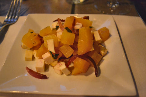 Carmen - roasted golden beet salad