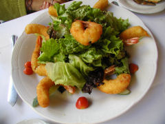 Cabernet - coconut shrimp
