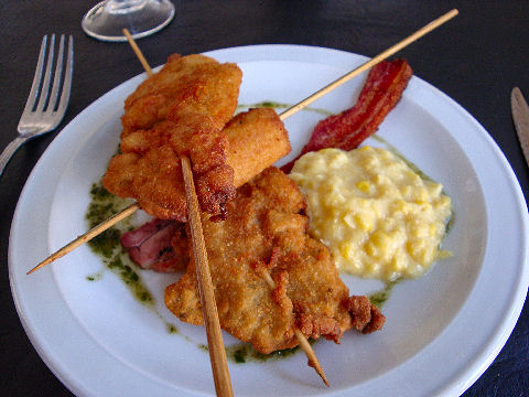 Calcio - pincho de pollo maryland