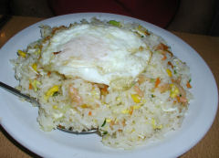 Casa Alegre - rice with vegetables, egg, and shrimp